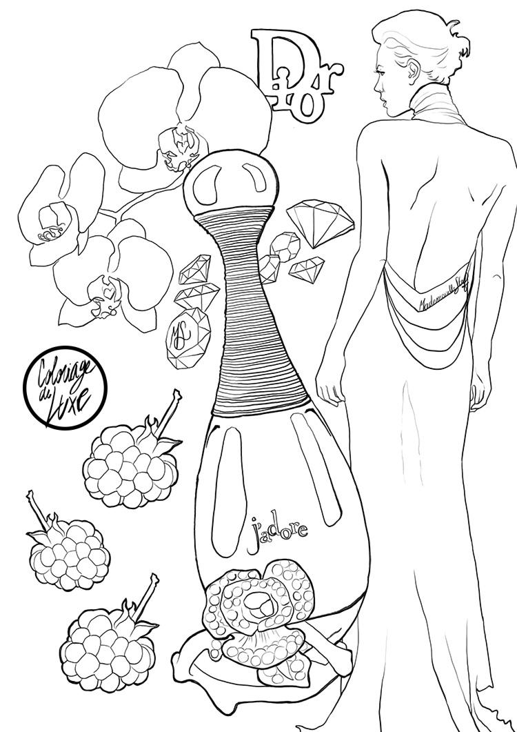 Parfum Coloriage Petite La Noir Robe OkPXn80w