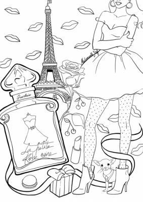 Coloriage la petite robe noire mademoiselle stef low 600x848