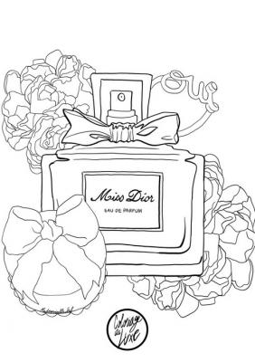 Coloriage mademoiselle stef miss dior low 1