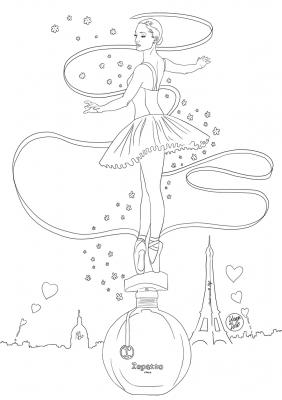 Coloriage repetto parfum mademoiselle stef low